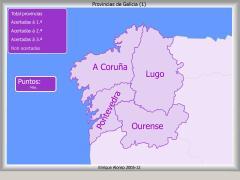 Provincias de Galicia. Onde está ...?