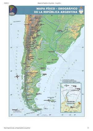 Mapa interactivo de Argentina Ríos de Argentina. ¿Cómo se llama ...