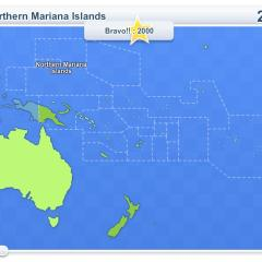 interactive map of oceania countries and territories of