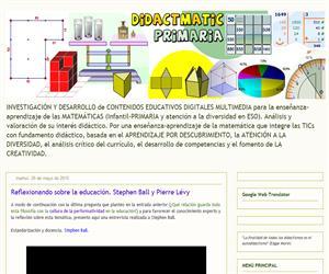 """Didactmatic Primaria, didáctica de la Matemática """"a pie de aula"""""""
